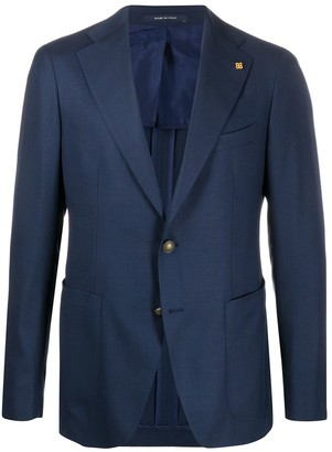 Tagliatore fine knit slim-fit suit jacket