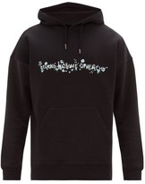 Givenchy Floral Logo-print Cotton Hooded Sweatshirt - Mens - Black