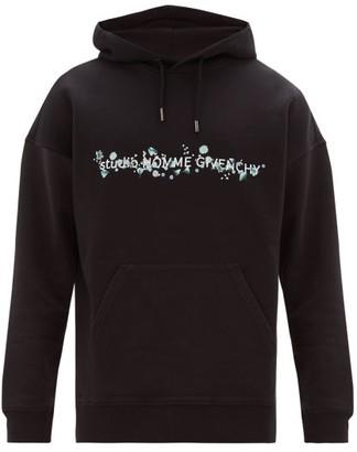 Givenchy Floral Logo-print Cotton Hooded Sweatshirt - Black