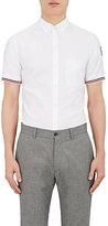 Moncler Gamme Bleu Men's Stripe-Cuff Cotton Shirt