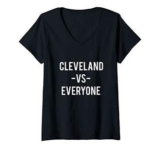 Victoria's Secret Womens Cleveland Everyone Sports Lover City Pride Gift V-Neck T-Shirt