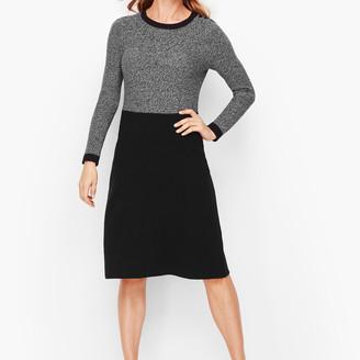 Talbots Marled Colorblock Sweater Dress