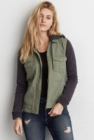 American Eagle Outfitters AE Canvas + Fleece Utility Jacket