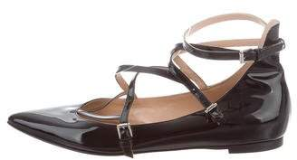 Gianvito Rossi Patent Leather Pointed-Toe Flats