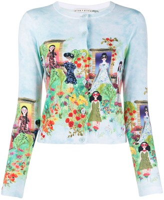 Alice + Olivia Ladies-print cardigan