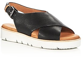 Gentle Souls by Kenneth Cole Gentle Souls Women's Kiki Perforated Leather Slingback Platform Sandals