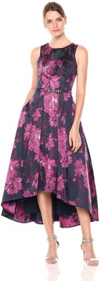 Eliza J Women's Floral High Low Gown