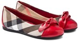 Burberry Red and Nova Check Ballet Pump
