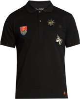Alexander McQueen Badge-appliqué polo shirt