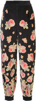 Vilshenko high-waisted floral trousers