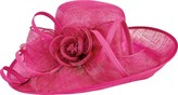 San Diego Hat Company Women's Asymmetrical Sinamay with Self Tie and Bow DRS1012