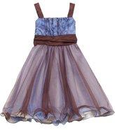 Rare Editions Girls 7-16 2 Tone Mesh Dress