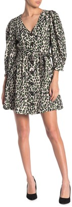 Alexia Admor Printed Button Front Belted Mini Dress