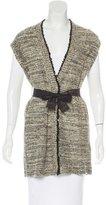 Brunello Cucinelli Belted Sequin-Embellished Vest