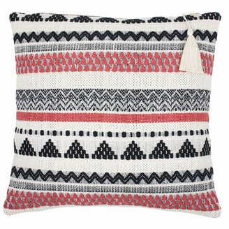 Ondine Ash Lulu Coral Stripe Cushion