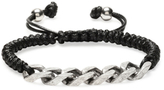Waxed Cord & Curb Chain Adjustable Bracelet