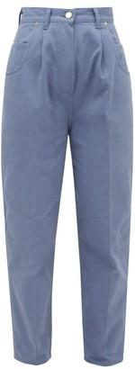 Hillier Bartley Bull Pleated High-rise Denim Jeans - Womens - Blue