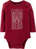 CARTERS Carter's Slogan Long Sleeve Bodysuits - Baby Boy Nb-24m
