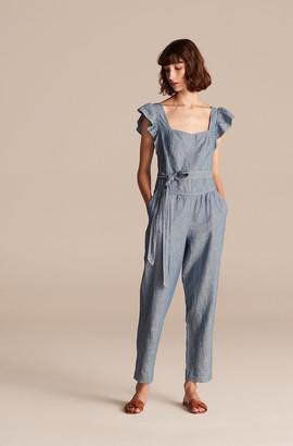 Rebecca Taylor La Vie Indigo Linen Jumpsuit