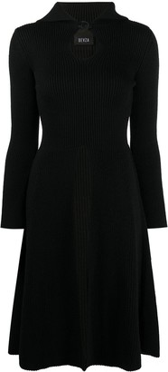 BEVZA Knitted Flared Dress