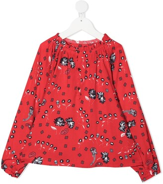 Zadig & Voltaire Kids Floral Long-Sleeve Blouse