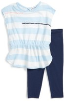 Splendid Infant Girl's Stripe Top & Leggings Set