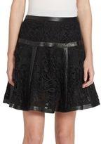 The Kooples Paneled Lace Mini Skirt