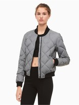 Calvin Klein Performance Reflective Quilted Bomber Jacket