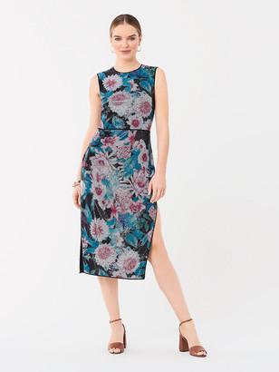 Diane von Furstenberg Arielle Sequined Fitted Midi Dress