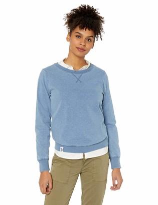 U.S. Polo Assn. Women's Crew Knit Indigo French Terry Sweatshirt