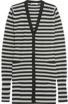 Max Mara Striped Cashmere Cardigan - Gray