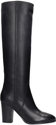 Fabio Rusconi High Heels Boots In Black Leather