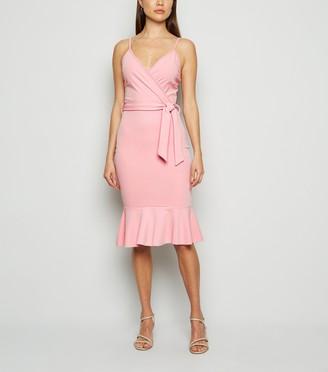 New Look Missfiga Frill Wrap Midi Dress