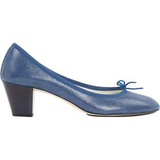 Repetto Blue Leather Heels