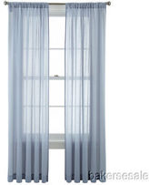 Martha Stewart Marthawindow Flutter Rod-pocket Sheer Panel Delft Blue 50 X 72