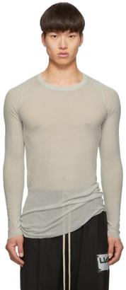 Rick Owens Grey Rib Long Sleeve Rib T-Shirt