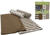 Gerber Flannel Receiving Blanket - Monkey - 4 pk