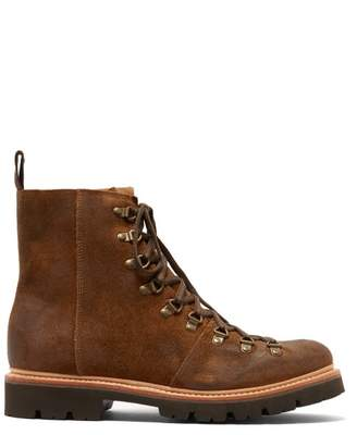 Grenson Brady Suede Hiking Boots - Mens - Brown