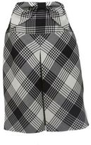 Valentino Plaid A-Line Skirt with Bow Waist Detail