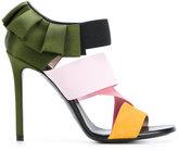 Emilio Pucci frilled stiletto sandals - women - Silk/Leather/Spandex/Elastane - 37.5