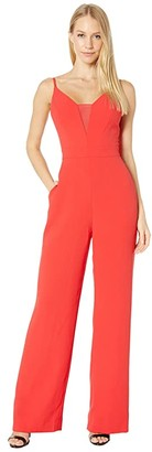 BCBGMAXAZRIA Wide Leg Jumpsuit (Jewel Red) Women's Jumpsuit & Rompers One Piece