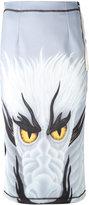 J.W.Anderson dragon print skirt - women - Polyester/Spandex/Elastane - 8
