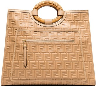 Fendi large Runaway FF embossed tote bag