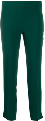 Alberto Biani Crepe Slim-Fit Trousers