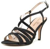 Lauren Lorraine Nelo Women Open-toe Synthetic Black Slingback Heel.