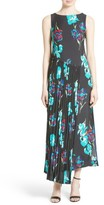 Diane von Furstenberg Women's Print Silk Pleated Overlay Dress