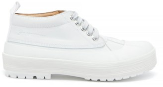Jacquemus Meuniers Leather And Rubber Lace-up Shoes - Womens - White