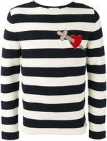 Gucci heart dagger striped sweatshirt - men - Cotton - L