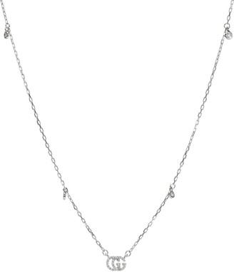 Gucci Double G 18kt white gold and diamond necklace