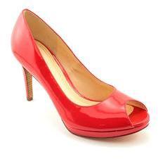 Cole Haan Chelsea OT.High.Pump Womens Open Toe Patent Leather Pumps Heels Shoes